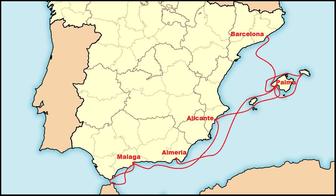 Planowana trasa rejsu ze Szczecina do Gdyni